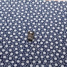 Navy Daisy Print 100% Cotton Fabric x 0.5m